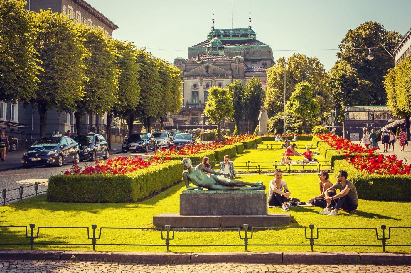 挪威卑尔根市,城市的明信片_图1-33