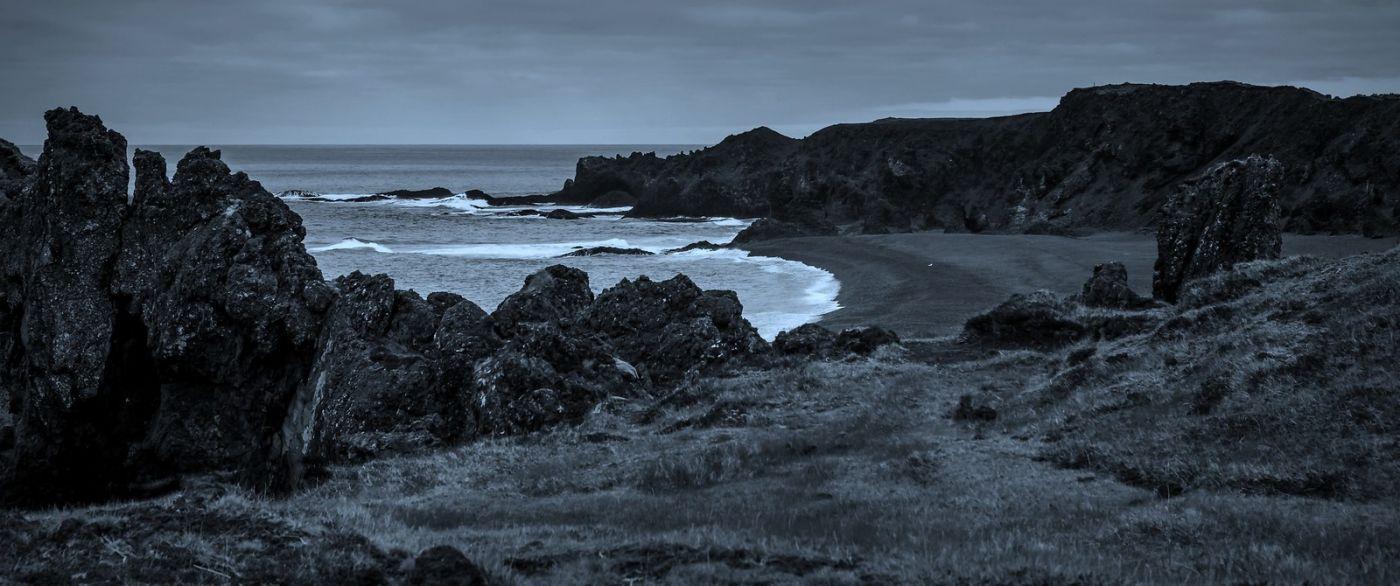 冰岛Djúpalónssandur沙滩,标志性的礁石_图1-3
