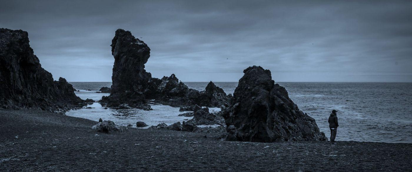 冰岛Djúpalónssandur沙滩,标志性的礁石_图1-8