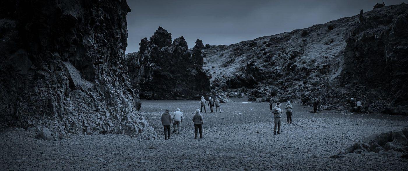 冰岛Djúpalónssandur沙滩,标志性的礁石_图1-14