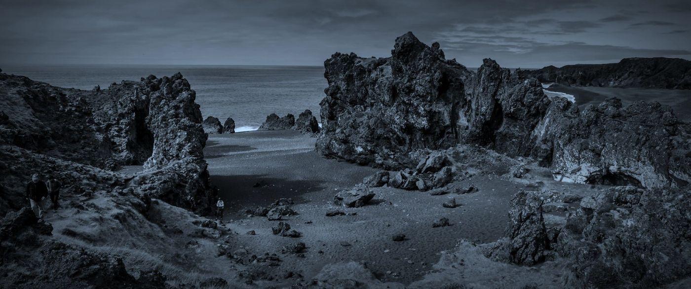 冰岛Djúpalónssandur沙滩,标志性的礁石_图1-17