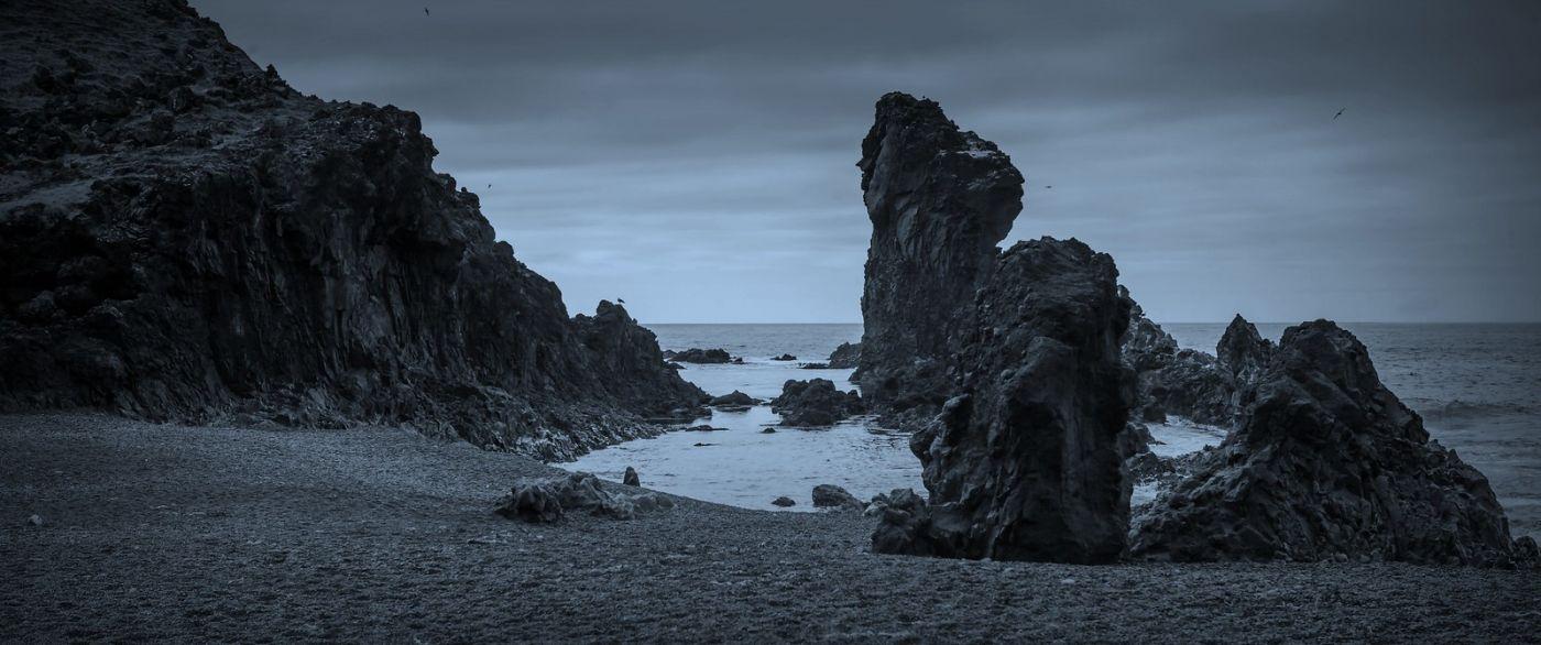 冰岛Djúpalónssandur沙滩,标志性的礁石_图1-19
