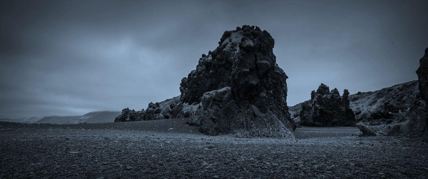 冰岛Djúpalónssandur沙滩,标志性的礁石_图1-36