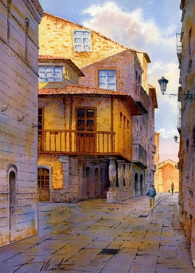 西班牙水彩画家--马丁.福斯蒂诺.冈萨雷斯_图1-11