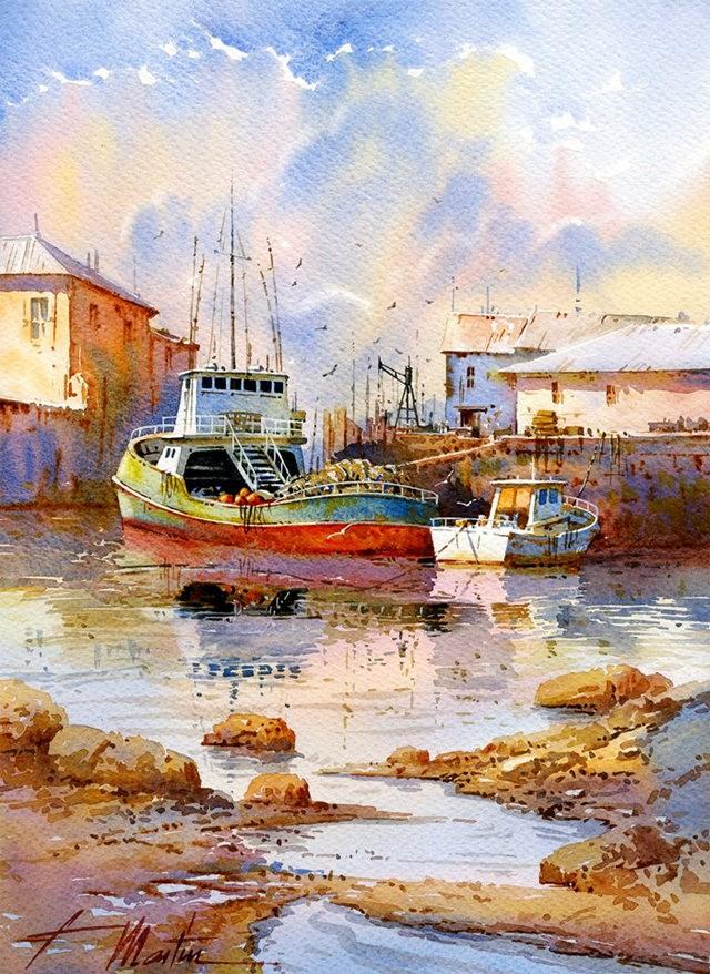 西班牙水彩画家--马丁.福斯蒂诺.冈萨雷斯_图1-12