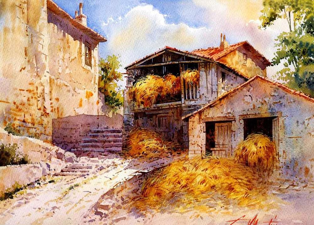 西班牙水彩画家--马丁.福斯蒂诺.冈萨雷斯_图1-2