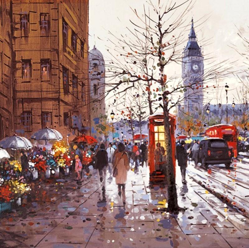 画家Henderson Cisz的城市画作_图1-3