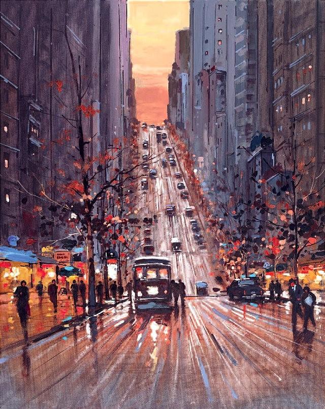 画家Henderson Cisz的城市画作_图1-4