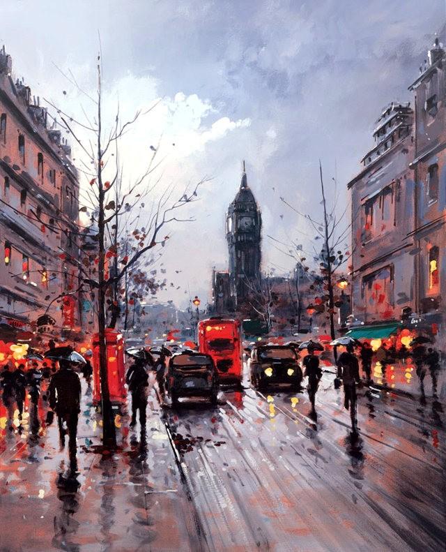 画家Henderson Cisz的城市画作_图1-5