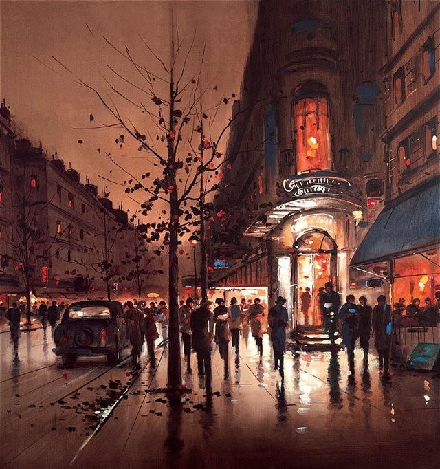 画家Henderson Cisz的城市画作_图1-7