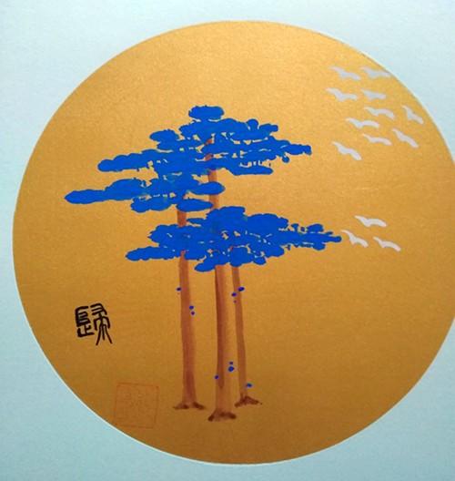 中国浪漫主义意象画派创始人张炳瑞香诗画作品《笔端流淌》 ..._图1-1