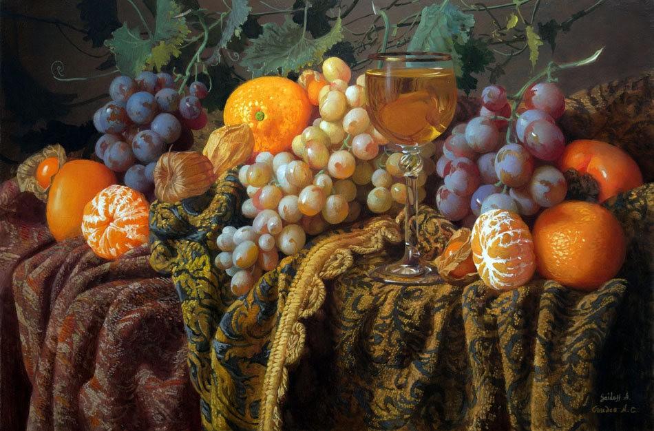 俄罗斯静物画家Alexander Saidov_图1-1