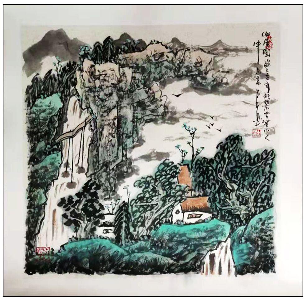 牛志高山水画------2019.8.1_图1-8