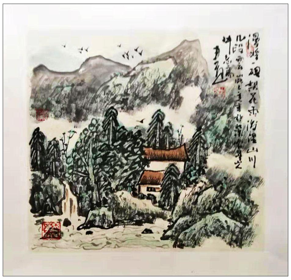 牛志高山水画------2019.8.1_图1-7