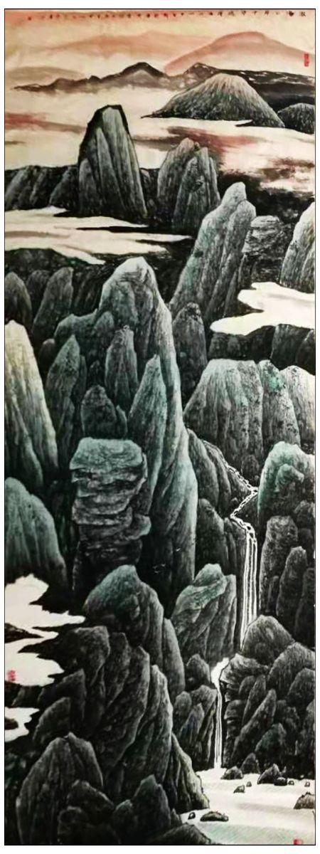 牛志高山水画----2019.8.8_图1-1