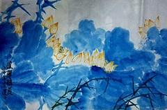 中国浪漫主义意象画派创始人张炳瑞香作品《天上清荷》_图1-2