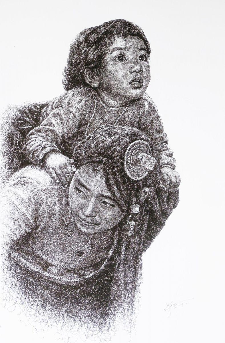 山雪钢笔画——2019年的作品_图1-3
