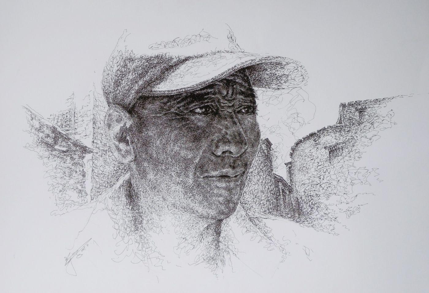 山雪钢笔画——2019年的作品_图1-5