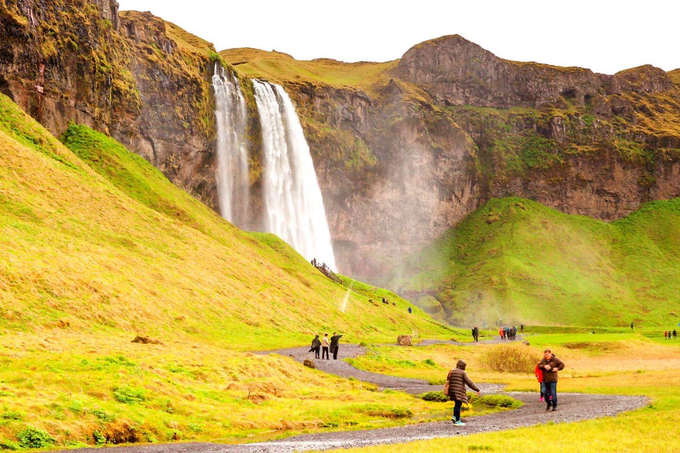 冰岛塞里雅兰瀑布(Seljalandsfoss),半空而下_图1-11
