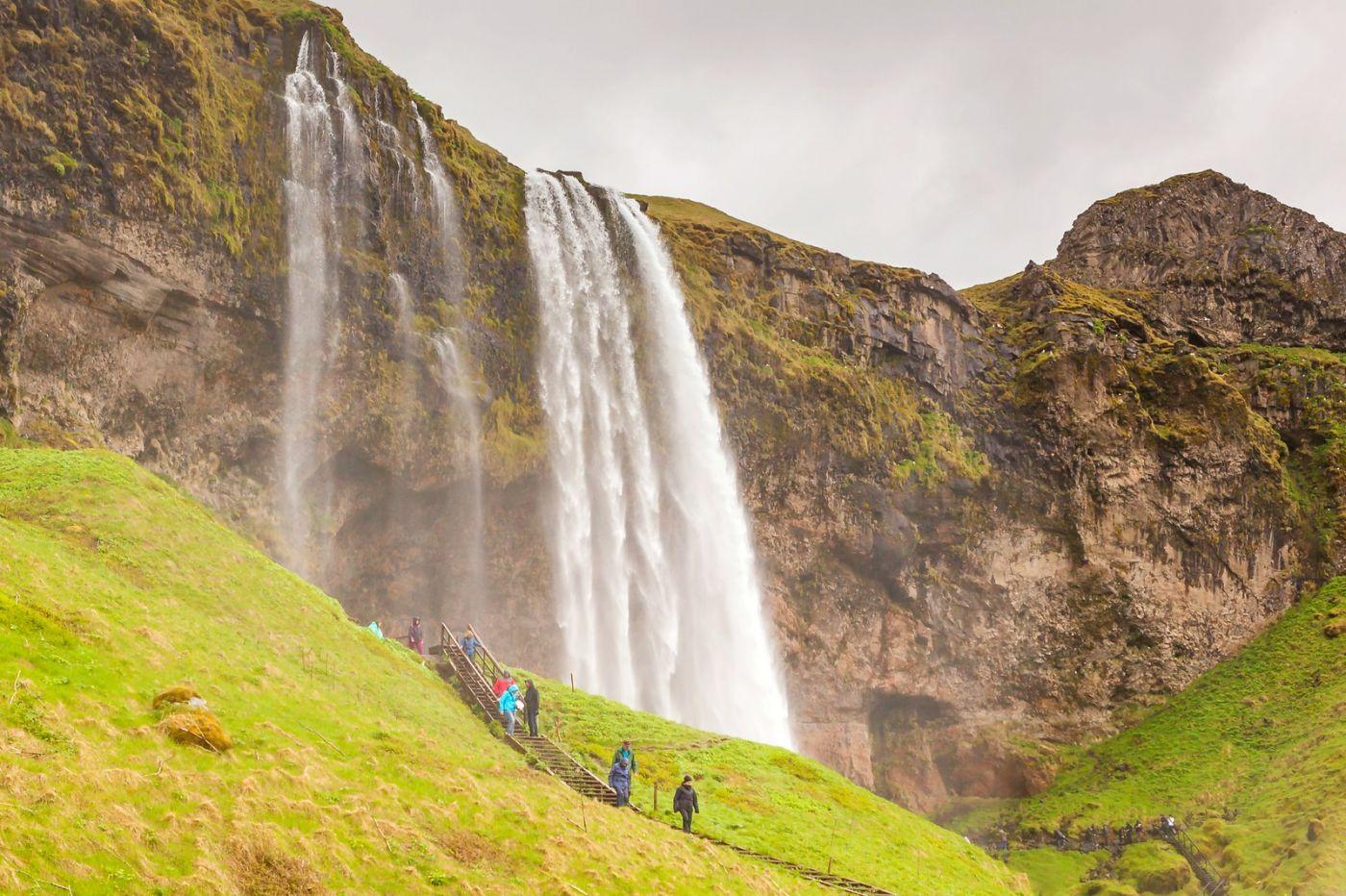 冰岛塞里雅兰瀑布(Seljalandsfoss),半空而下_图1-10