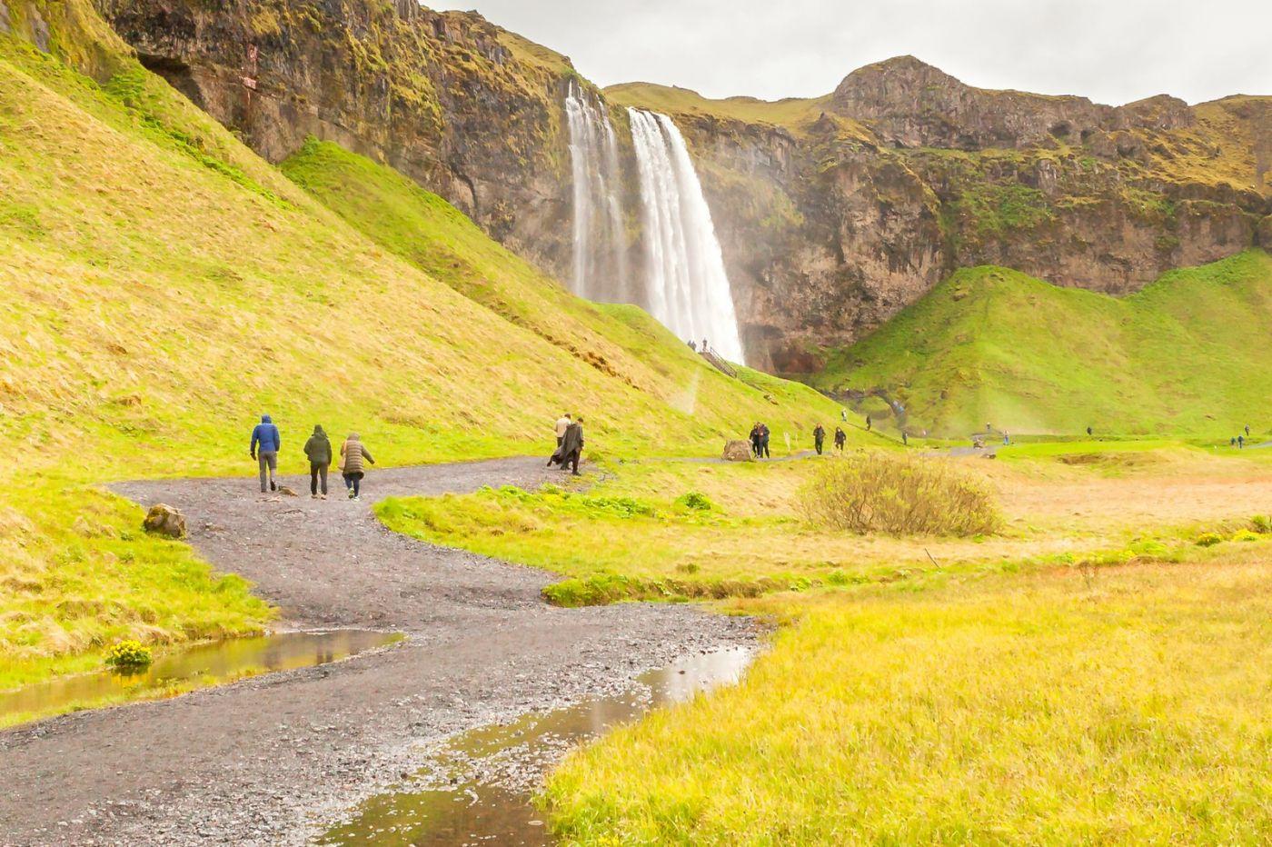 冰岛塞里雅兰瀑布(Seljalandsfoss),半空而下_图1-7