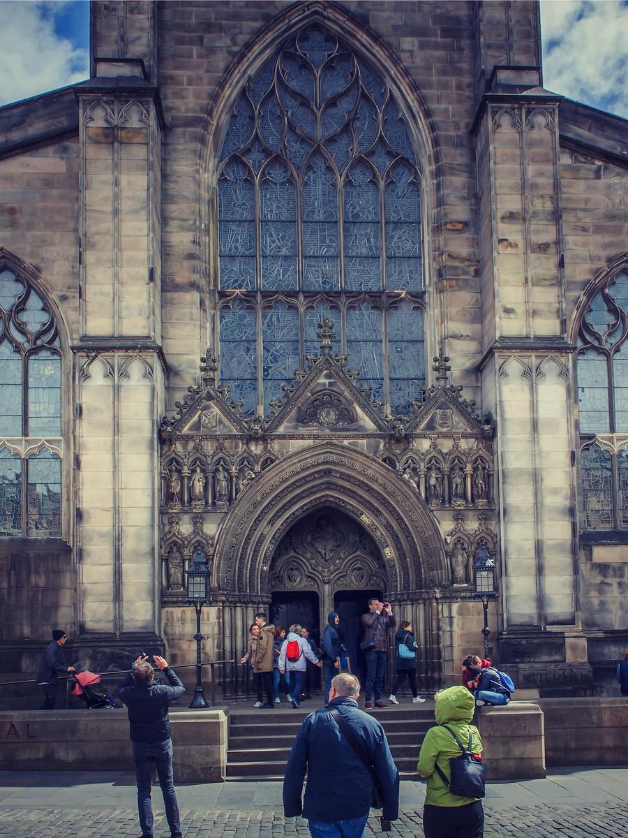 苏格兰爱丁堡,街上行人_图1-36