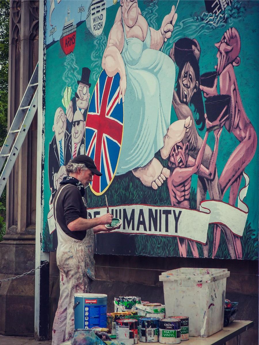 苏格兰爱丁堡,街上行人_图1-1