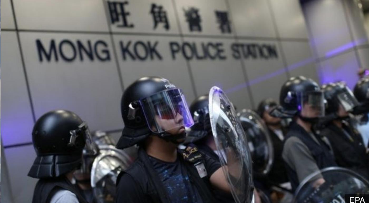 支持香港警察严惩不法暴徒平定乱局_图1-2