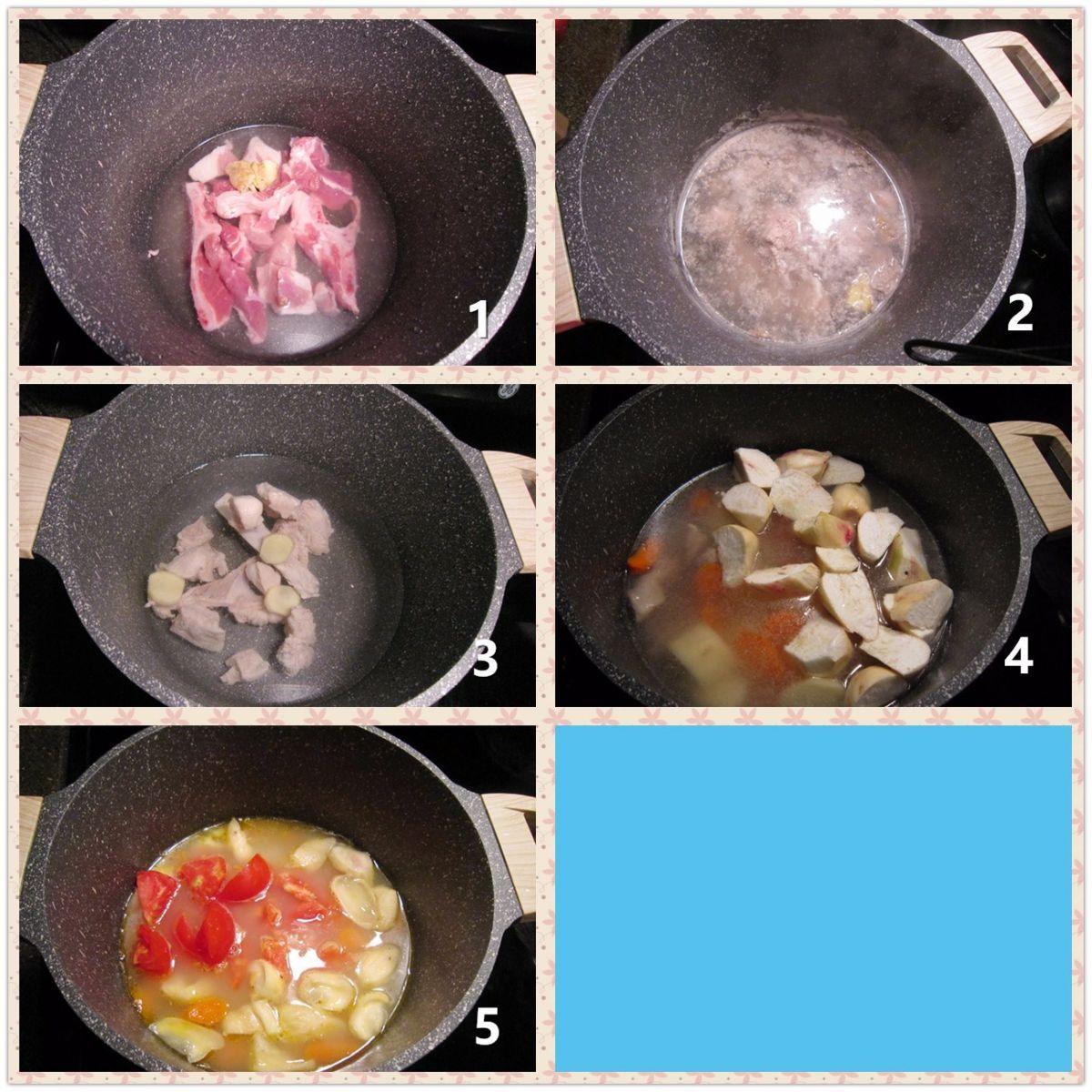 排骨青红萝卜土豆汤_图1-2