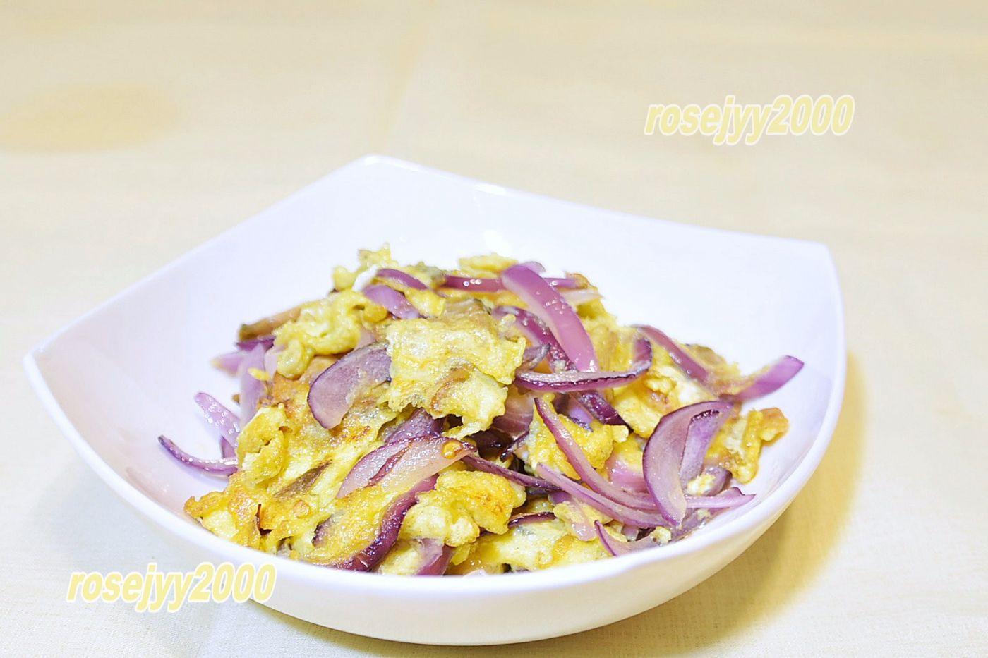 榨菜洋葱炒蛋_图1-1