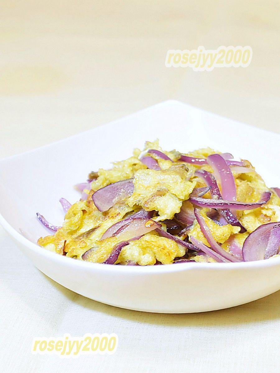 榨菜洋葱炒蛋_图1-3