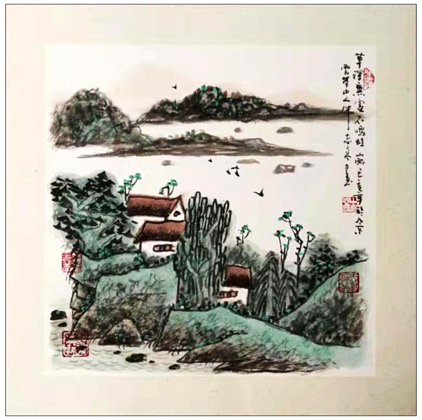 牛志高山水画----2019_图1-16