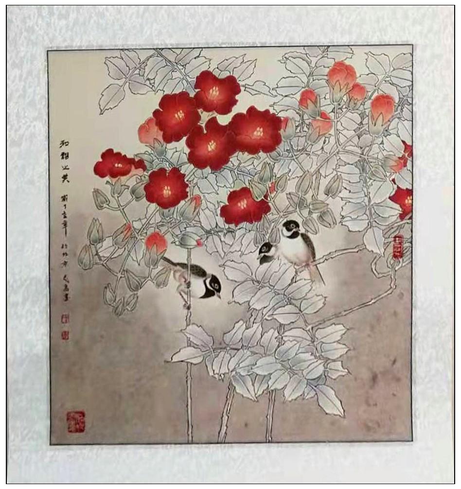 牛志高花鸟画---2019.9.1_图1-9