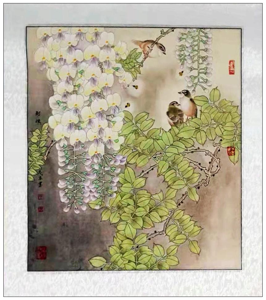 牛志高花鸟画---2019.9.1_图1-12