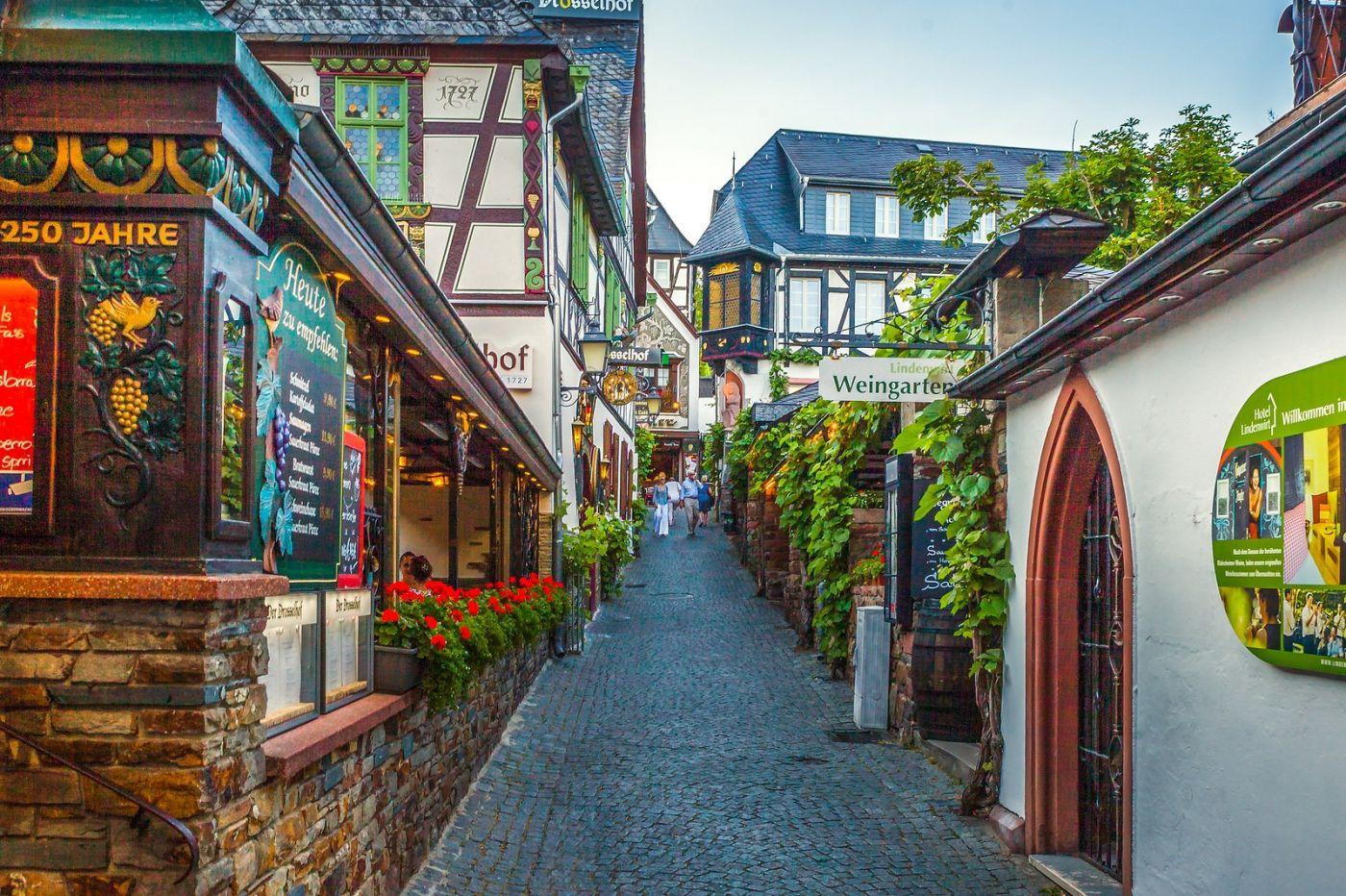 德国吕德斯海姆(Rudesheim),莱茵河畔的小镇_图1-16