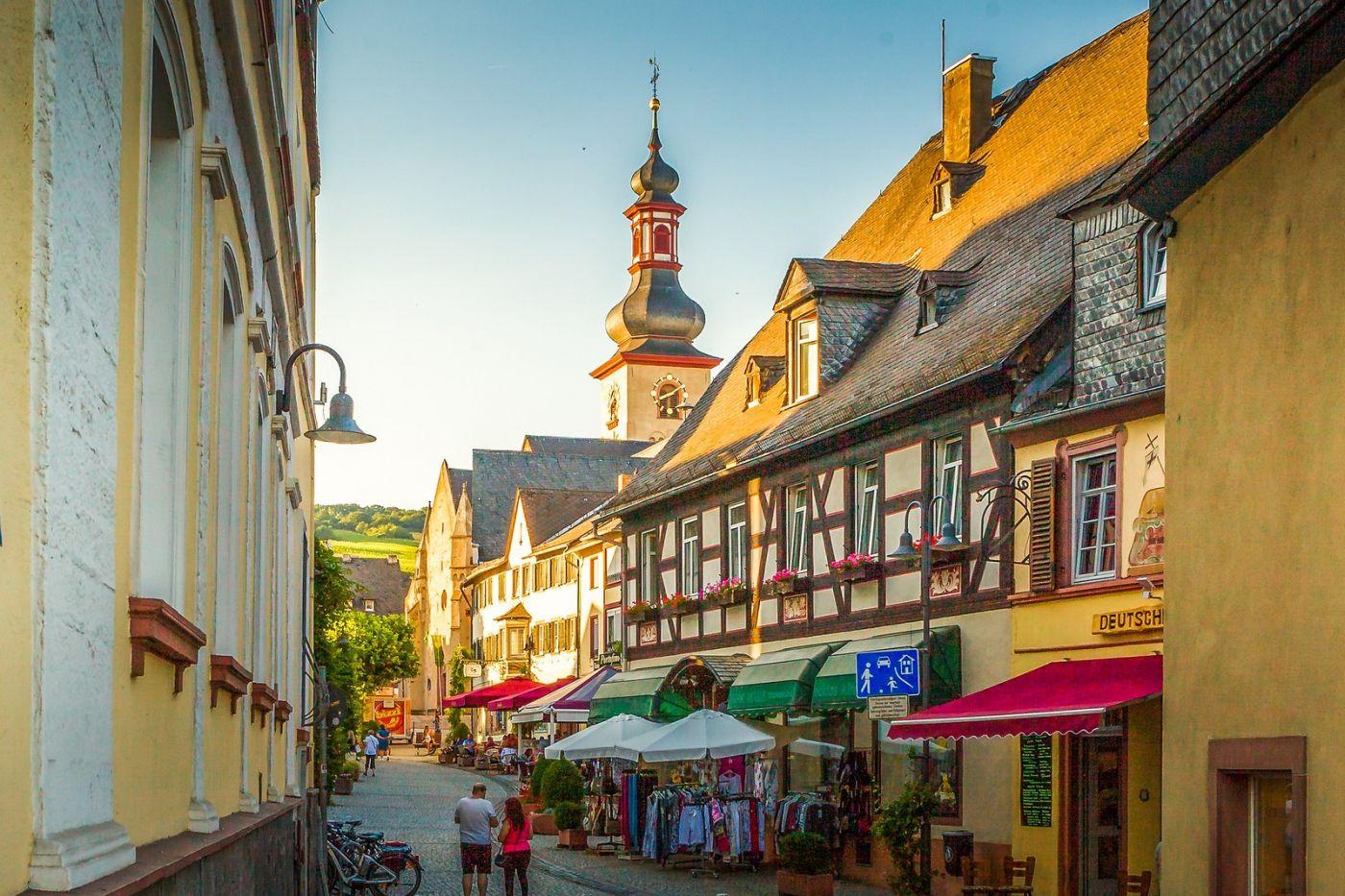 德国吕德斯海姆(Rudesheim),莱茵河畔的小镇_图1-9