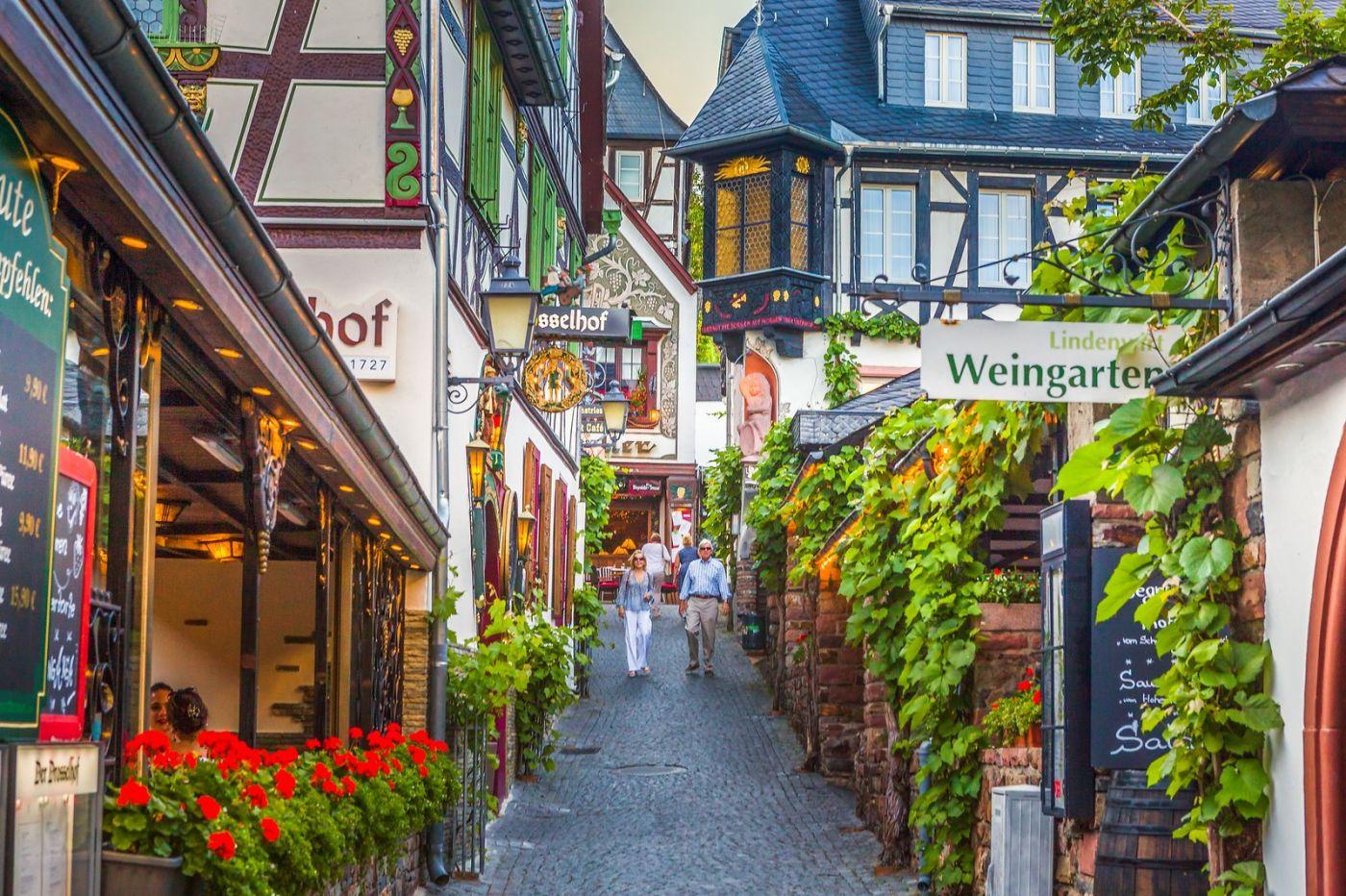 德国吕德斯海姆(Rudesheim),莱茵河畔的小镇_图1-4