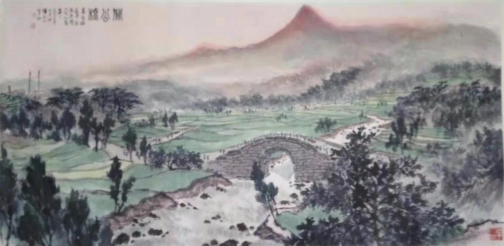 如何读懂傳抱石象征主义绘《关公桥》图画_图1-1