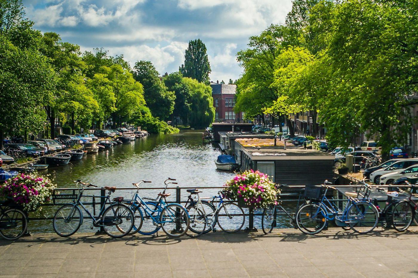 荷兰阿姆斯特丹,穿梭的自行车_图1-30