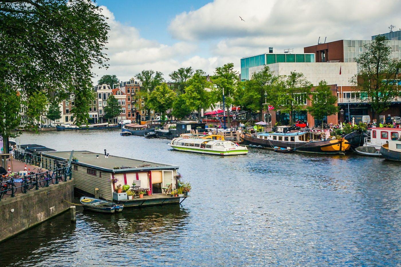 荷兰阿姆斯特丹,穿梭的自行车_图1-23