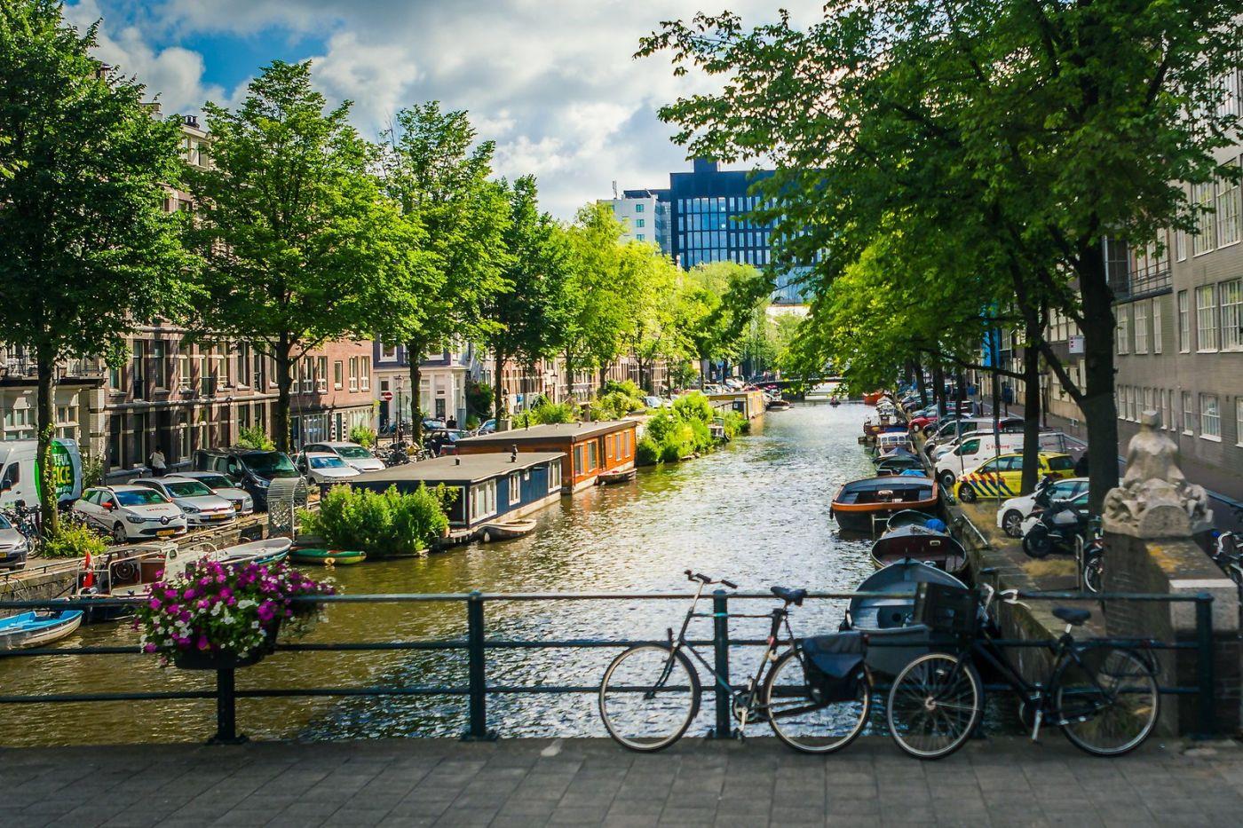 荷兰阿姆斯特丹,穿梭的自行车_图1-19
