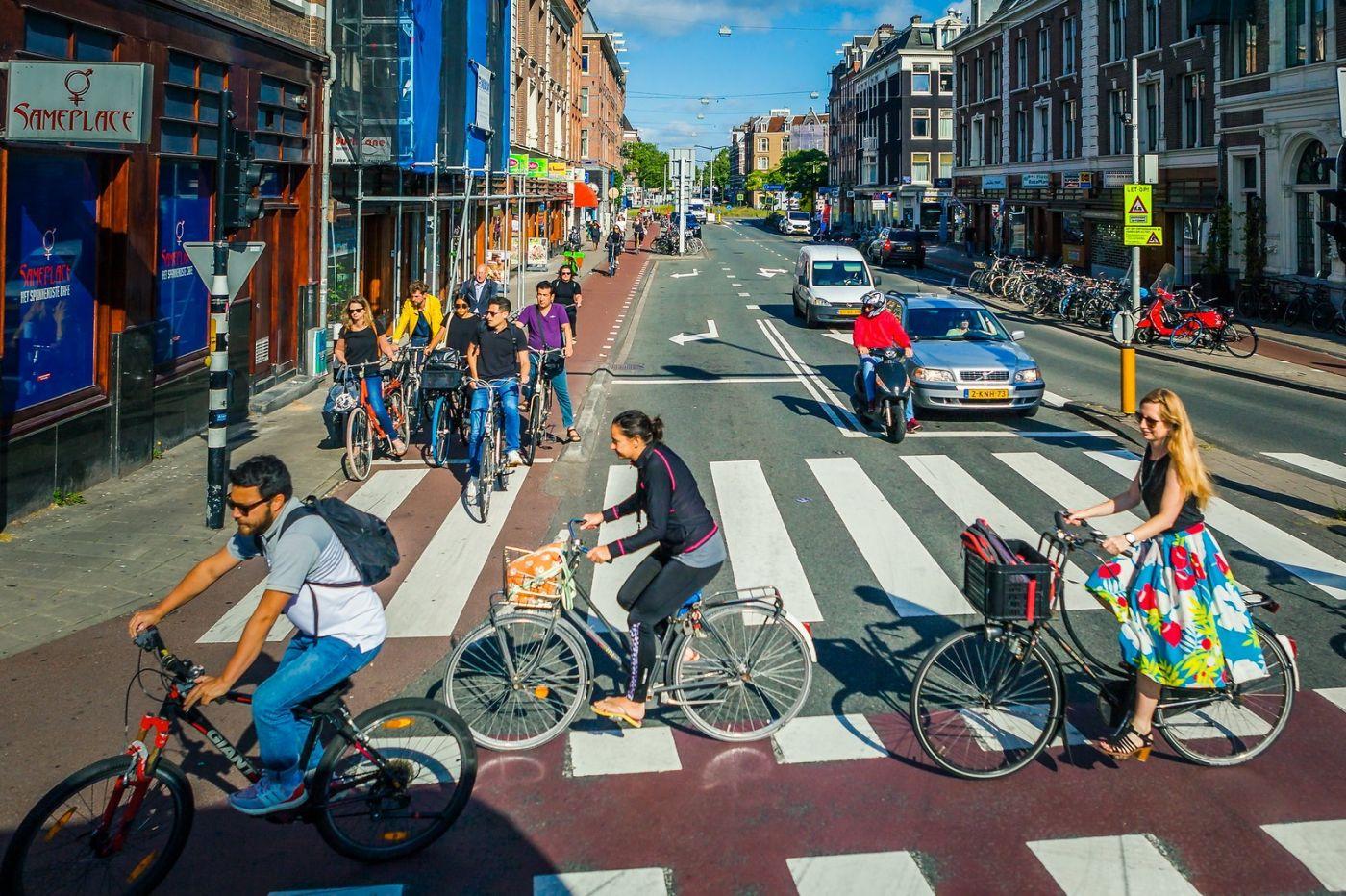 荷兰阿姆斯特丹,穿梭的自行车_图1-8