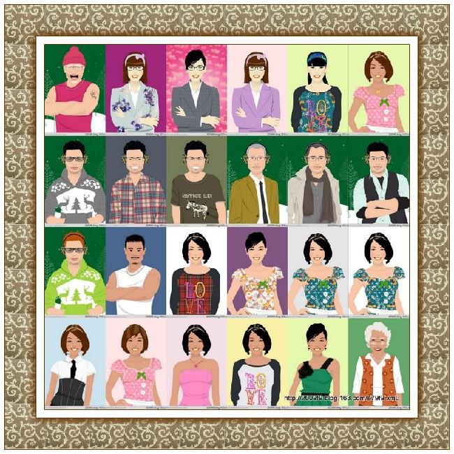 【晓鸣美术】各种人物形像拼图_图1-23