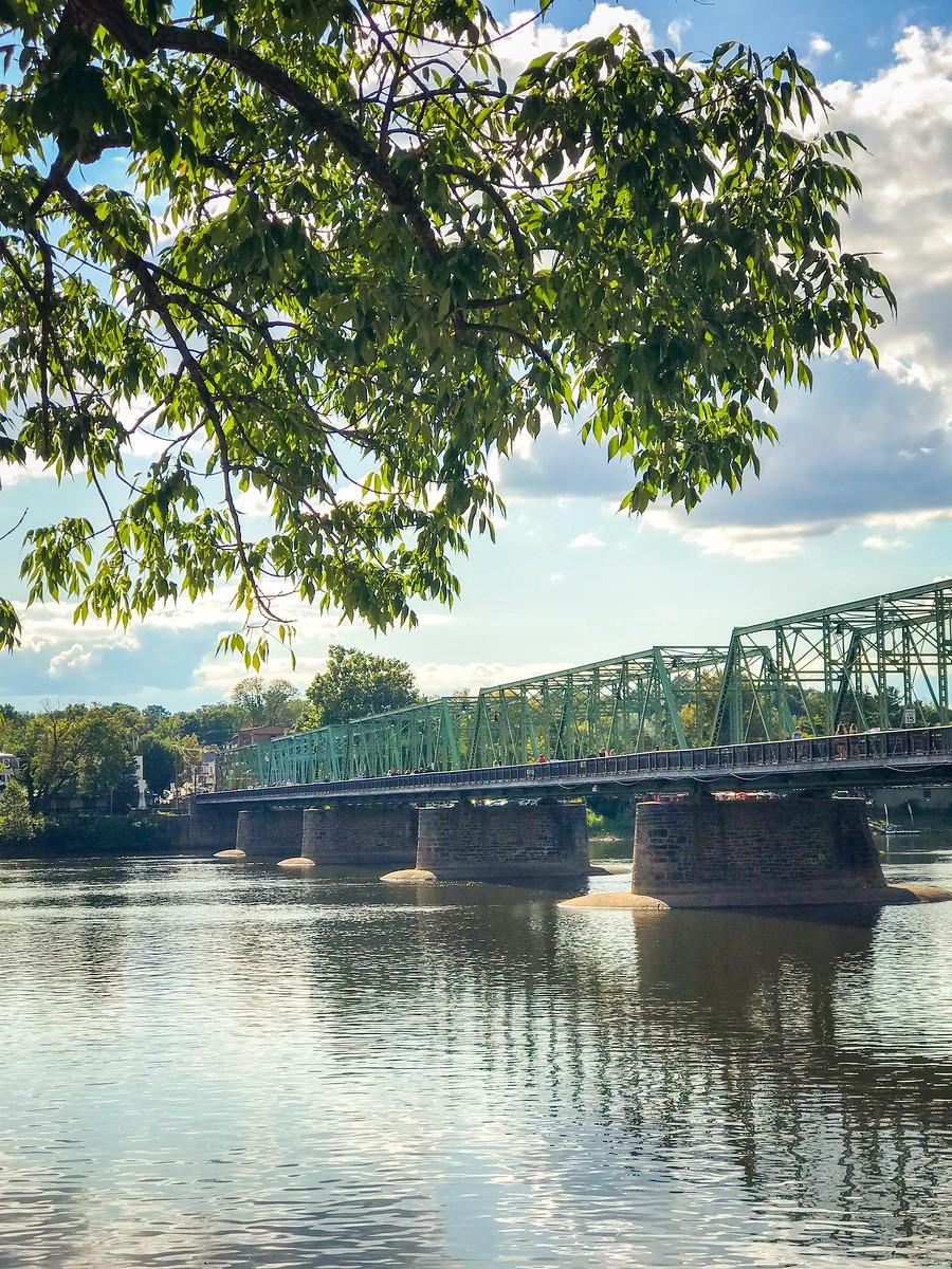 賓州新希望小城(New Hope),連接兩州的鐵橋(賓州和新澤西州) ..._圖1-11