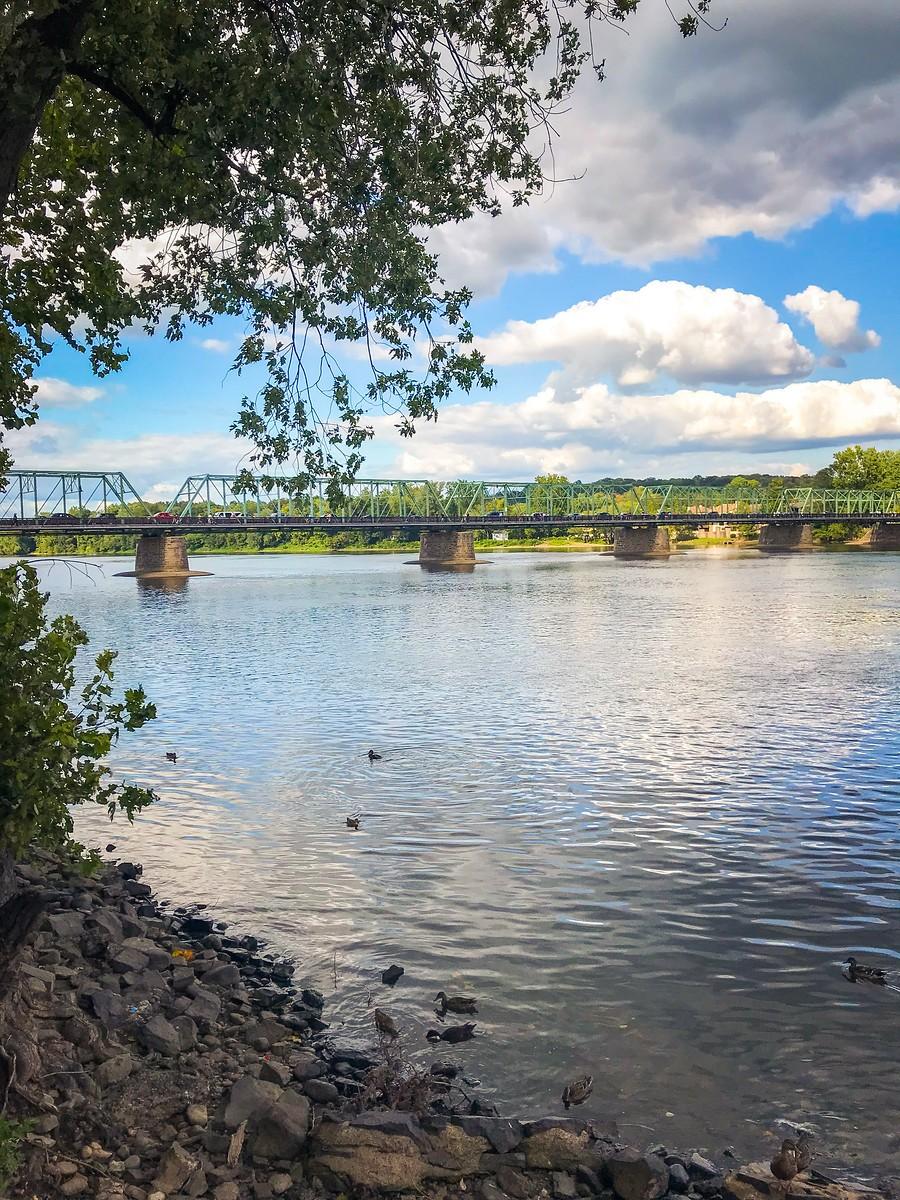 賓州新希望小城(New Hope),連接兩州的鐵橋(賓州和新澤西州) ..._圖1-12