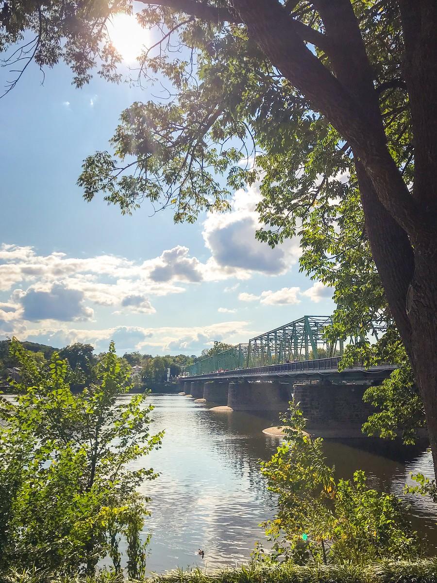 賓州新希望小城(New Hope),連接兩州的鐵橋(賓州和新澤西州) ..._圖1-2