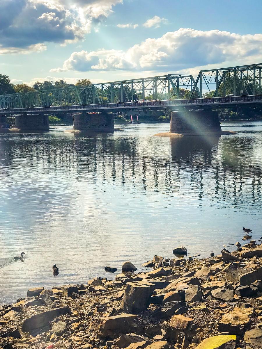 賓州新希望小城(New Hope),連接兩州的鐵橋(賓州和新澤西州) ..._圖1-9