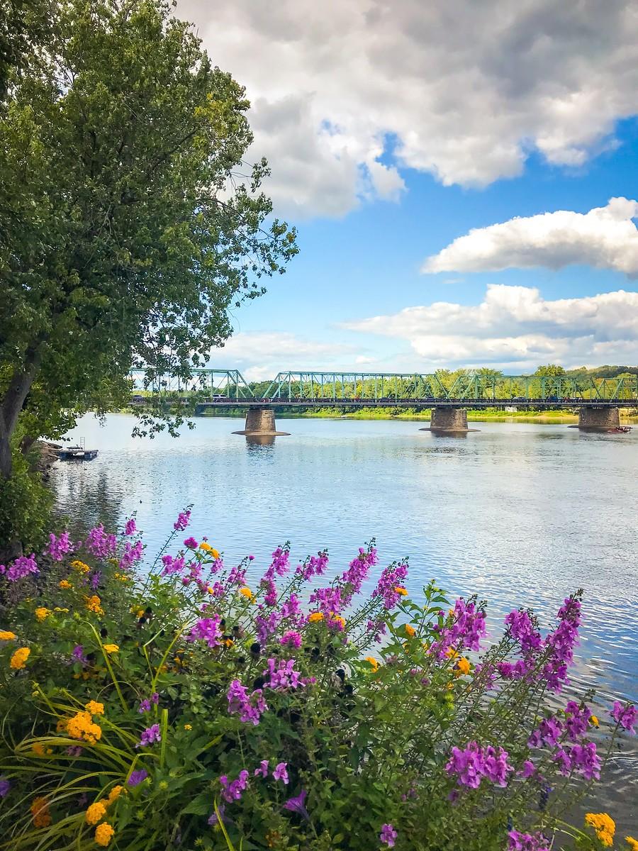 賓州新希望小城(New Hope),連接兩州的鐵橋(賓州和新澤西州) ..._圖1-1