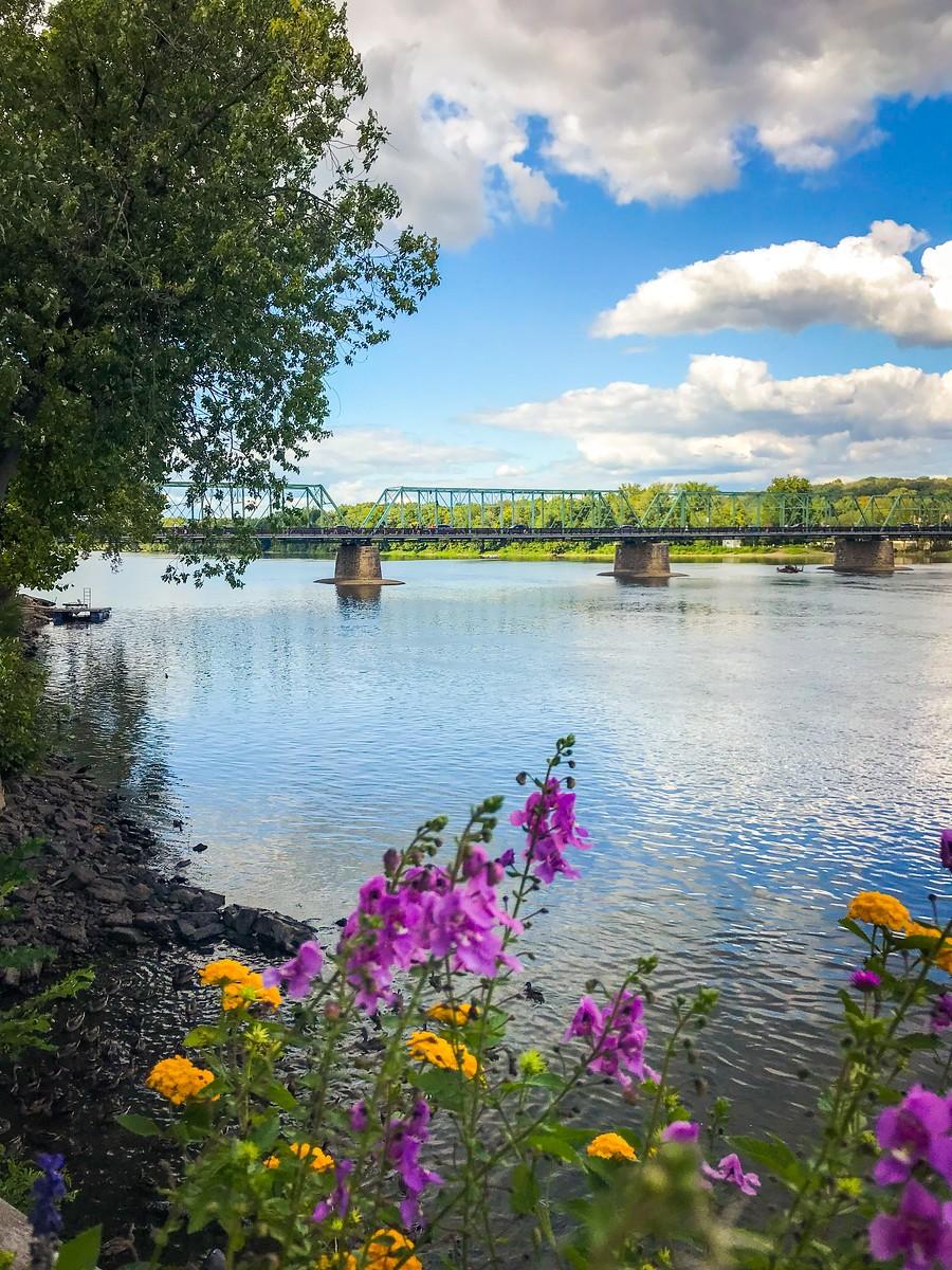 賓州新希望小城(New Hope),連接兩州的鐵橋(賓州和新澤西州) ..._圖1-8