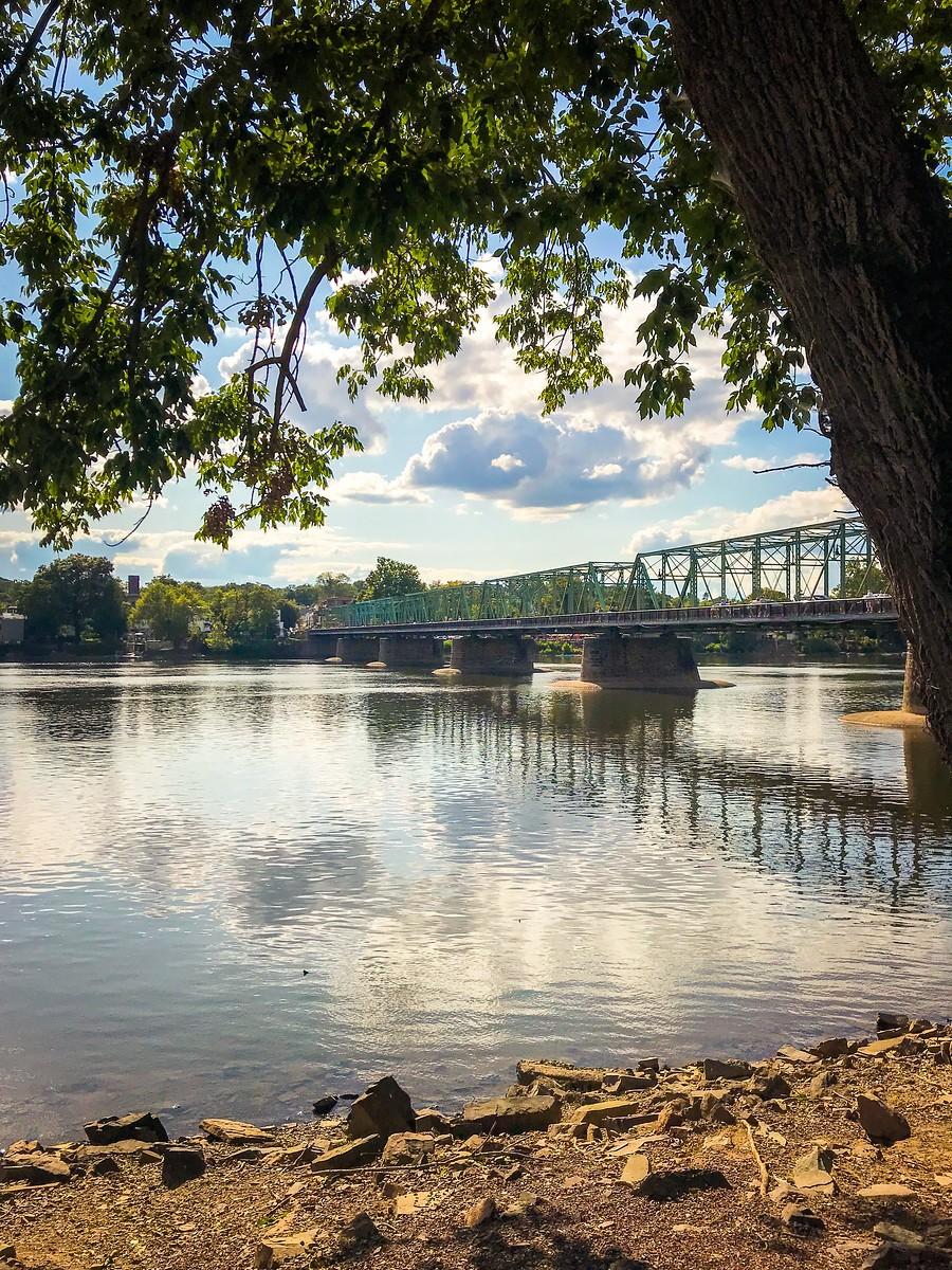 賓州新希望小城(New Hope),連接兩州的鐵橋(賓州和新澤西州) ..._圖1-5